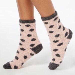 2 Pairs Charter Club Metallic-Dot Fuzzy Cozy Socks